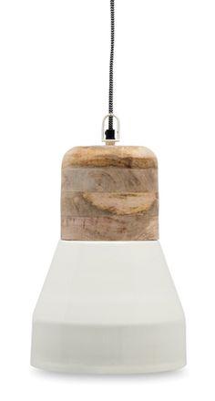 metal & wood pendant light