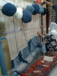 Persian carpet weaver