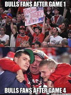 Bulls Fans After Game 1 and Bulls Fans After Game 4