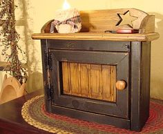 """Rustic meets contemporary in this """"charging station"""" for your cell phone, ipod, or electric candles"""