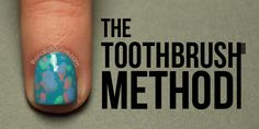 The Nailasaurus: Money Smart Nail Art: The Toothbrush Method Tutorial