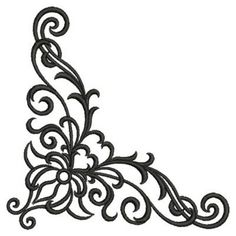 corner design ornament free personal use dxf svg eps files
