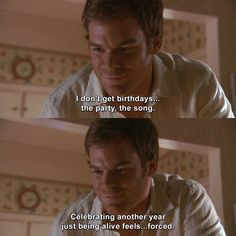 Dexter - Return to Sender Dexter Morgan Quotes, Dexter Memes, Movies Showing, Movies And Tv Shows, Tv Quotes, Funny Quotes, Debra Morgan, Dexter Seasons, Celebrity Weddings