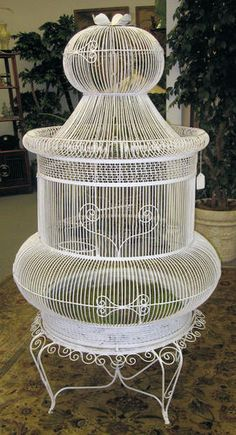 I REALLY want this! Vintage 6 Foot Victorian Wire Bird Cage Birdcage