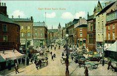 Upper Market Square, Hanley. Peak District, Stoke On Trent, Vintage Photos, The Past, Street View, England, Memories, History, City