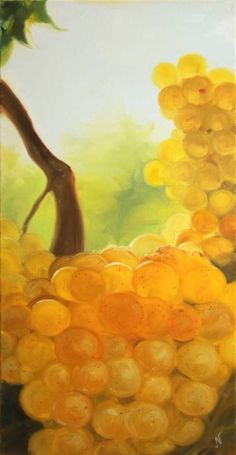 """Saatchi Art is pleased to offer the painting, """"Chardonnay,"""" by Natalia Mikhaylina. Original Painting: Oil on Canvas. Oil On Canvas, Saatchi Art, Original Paintings, Painted Canvas"""