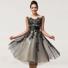 50's 60s vintage dresses Applique Lace Retro Swing 50s 60s pinup Housewife Dress