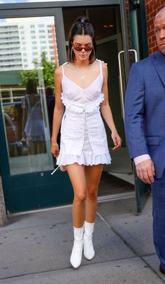 Kendall Jenner is white hot in a monochrome outfit while out and about in New York City.