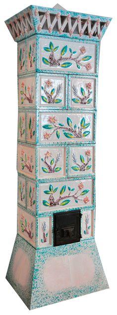 ** Dagobert Peche, tile stove,  designed c. 1912,