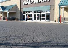 アウトレットモールの駐車場、ニュージャージー州   場所:ウィンザー、ニュージャージー州/機器を使用、SR-60 / StreetPrintテンプレートパターン:ホタテ - スタンプアスファルト