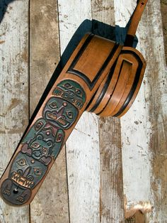 Custom Made HandTooled Antiqued Leather Guitar by MelcoLeather, $150.00