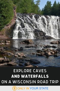 If you're looking to travel to Wisconsin's best caves and waterfalls, this road trip is a great option. Perfect for a local staycation, bring family, kids, and friends on your scenic adventure. From the  limestone sea caves at Cave Point County Park to the natural swimming hole at Willow River Falls State Park, you'll have so much fun. Enjoy nature with little to no hiking required! Great Places, Places To Visit, Cascade Falls, County Park, Local Attractions, Swimming Holes, Haunted Places, Family Kids, Staycation