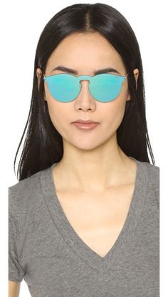 Illesteva Leonard Mirrored Mask Sunglasses