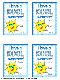 photo about Have a Kool Summer Printable called Consist of a KOOL Summer months Printable Conclude of Yr Presents