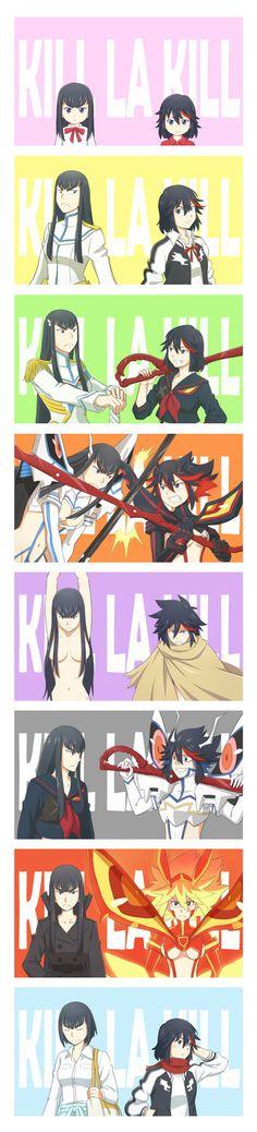 Kill A Kill, Anime Friendship, Poses References, Gurren Lagann, Cool Animations, Asuna, Manga Illustration, Fandom, Awesome Anime