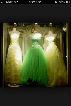 Green dress is sparkling... So pretty