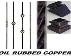 Iron Balusters Iron Spindles Metal Stair Parts Hollow Oil Rubbed Copper Metal Stair Spindles, Wrought Iron Banister, Iron Balusters, Metal Stairs, Banisters, Stair Railing, Railings, Thing 1, Oil Rubbed Bronze