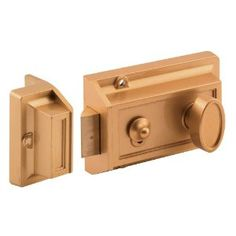 Prime-Line Products U 9967 Night Latch and Locking Cylinder, Brass Painted Diecast by Prime-Line Products. $13.70. From the Manufacturer                This diecast constructed lock comes painted in gold. It includes a 5-Pin rekeyable tumbler cylinder and a hold open feature. Requires a 1-1/4 in. bore hole on your door.                                    Product Description                This diecast constructed lock comes painted in gold. It includes a 5-Pin...
