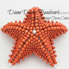 Beadwork Kit Starfish Pendant van DianeDennisBeadwork op Etsy