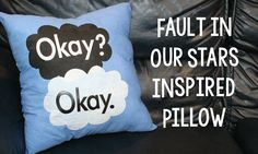 Fault in Our Stars Inspired Pillows | Sizzix Teen Craft - A Little Craft In Your DayA Little Craft In Your Day