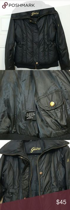 Guess down filled jacket. Size small, color black. Very warm down fill. Guess Jackets & Coats