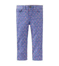 French artist Henri Matisse spent time painting in Tangier. The print on these five-pocket pants is inspired by the delicate wallpaper in his paintings.