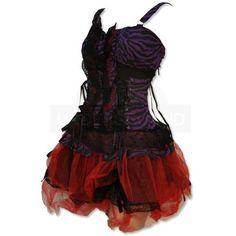 Undergroundstore - Punk Dress Zebra Purple / Red Punk Dress Zebra... (£41) ❤ liked on Polyvore featuring dresses, vestidos, short dresses, tops, short red cocktail dress, short red dress, red mini dress, zebra dress and purple mini dress