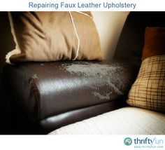 How To Repair A Large Tear In Leather Sofa Sure Fit Scroll Brown Slipcover Fix Peeling Couch Cleaning Repairing Faux Upholstery