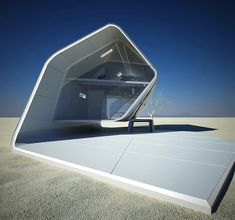 Inspired by the shape of a California roll, architecture studio Violent Volumes designed this futuristic home. More on ignant.de...