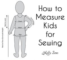 Sewing Tip: How to Measure Kids for Sewing Projects #sewing #kids Toddler Apron, Sewing Projects For Beginners, Easy Sewing Projects, Sewing Crafts, Fabric Wallet, Baby Sewing, Sewing For Kids, Free Sewing, Sewing Patterns Free