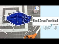 You can make a hand sewn face mask when you don't have a sewing machine. Not everyone has a sewing machine or access to one, and may never want one! Easy Face Masks, Diy Face Mask, Bandana, Types Of Cotton Fabric, Reuse Old Clothes, Wreath Making Supplies, Deco Mesh Ribbon, Trendy Tree, Hand Sewing