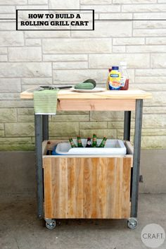 How to build a rolling grill cart and ice chest!