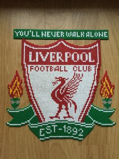 Liverpool perler beads Pearler Beads, Fuse Beads, Cross Stitch Embroidery, Cross Stitch Patterns, Liverpool, Hama Beads Design, Beads Pictures, Iron Beads, C2c