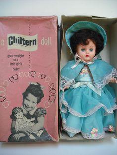 LOVELY 14  1960s CHILTERN VINYL DOLL  ALL ORIGINAL  IN BOX