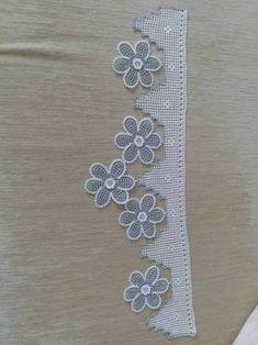 Crochet Borders, Crochet Squares, Crochet Blanket Patterns, Filet Crochet, Crochet Motif, Crochet Stitches, Crochet Towel, Towel Crafts, Bargello