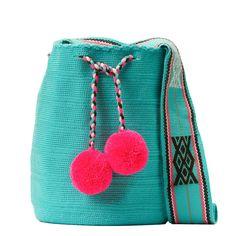 Tienda online de Bolsos Wayuu étnicos y artesanales en Madrid |Full Moonrise Cotton Bag, Cotton Thread, Fabric Drawing, Crochet Accessories, Knit Crochet, Coin Purse, Weaving, Tapestry, Bag Patterns