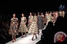 "Edward Hutabarat fashion designer fashion collection presented dozens motif in the show entitled ""The Machete"" at Jakarta Fashion Week 2014"