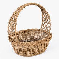 3d model wicker basket color