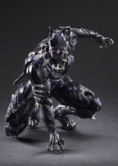 Sidewalk Toys and Square Enx are excited to present, the Marvel Universe Variant Play Arts -Kai- Black Panther! Black Panther has become a world-renowned comic Black Panther Marvel, Black Panther Art, Marvel Dc Comics, Marvel Heroes, Marvel Avengers, Avengers Games, Marvel Funny, Wakanda Marvel, Space Opera