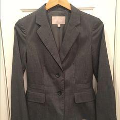 Banana Republic Blazer Beautiful BR Blazer || Grey with white pinstripes || worn only once Banana Republic Jackets & Coats Blazers