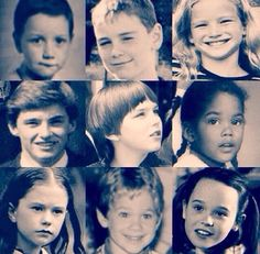 The cast of X-Men before they were famous! AW LOOK AT JENNIFER AND MICHAEL!