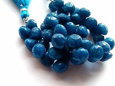 Chrysocolla Gemstone.  Faceted Onion Briolette Teal by luxbeads