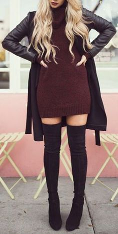 148b88aab9 100+ Trending Women s Thigh High Boots Outfit Ideas for Fall or Winter 2018