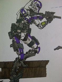 ARC trooper doodle by halonut117 on DeviantArt