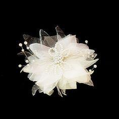 Beautiful Satin/Imitation Pearl Wedding Flowers/Headpiece – EUR € 5.77