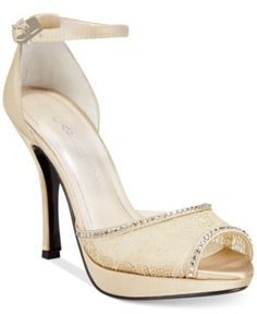 Caparros Womens Wynn Open Toe Bridal Ankle Strap Sandals Nude Size 70