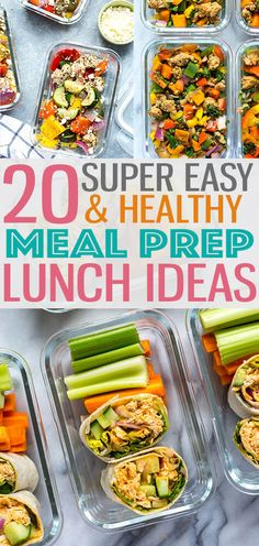 These 20 Easy, Healthy Meal Prep Lunch Ideas for Work are the perfect way to stay on track with your weekly meal planning! - The Girl on Bloor #mealprep #lunchideas #lunchrecipes