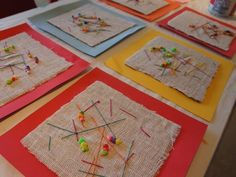 Fun And Easy Sewing Projects For Kids Sewing Art, Sewing Crafts, Diy Crafts, Free Sewing, Kindergarten Art, Preschool Art, Sewing Projects For Kids, Sewing For Kids, Art For Kids