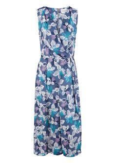 Closet Floral Cross Over Midi Dress.