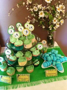 Themed treats at a Peter Pan Birthday Party!  See more party planning ideas at CatchMyParty.com!
